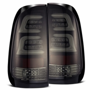 Alpha Rex 1997-2003 Ford F150 Optic-Style LED Tail Lights - Jet Black / Smoked lens