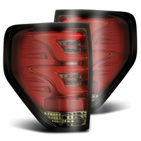 Alpha Rex 2009-2014 Ford F150 Optic-Style LED Tail Lights - Red Smoke