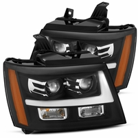 Alpha Rex Base Model 2007-2013 Chevy Tahoe Projector Headlights - Black