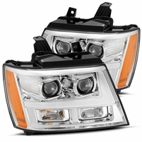Alpha Rex Base Model 2007-2013 Chevy Tahoe Projector Headlights - Chrome
