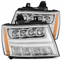 Alpha Rex NOVA-Series 2007-2013 Chevy Tahoe Projector Headlights - Chrome