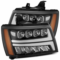 Alpha Rex NOVA-Series 2007-2013 Chevy Tahoe Projector Headlights - Jet Black
