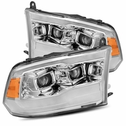 Alpha Rex PRO-Series Upgraded Version 2009-2018 Dodge Ram Sequential Projector Headlights - Chrome