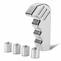 Aluminum Pistol Hand Grip Style Shifter Shift Knob [Manual Only] - Silver