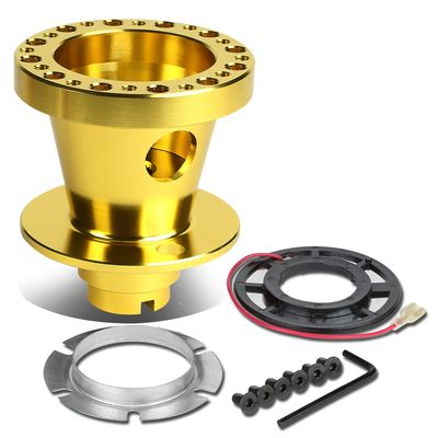 Aluminum Steering Wheel 6-Hole Hub Adaptor Kit Gold - Civic / Integra / Del Sol