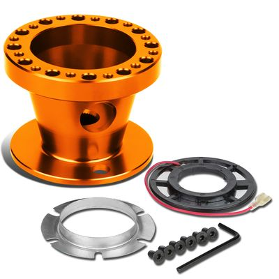 Aluminum Steering Wheel 6-Hole Hub Adaptor Kit Orange - 200ZX / 240SX / 300ZX / Sentra / Maxima