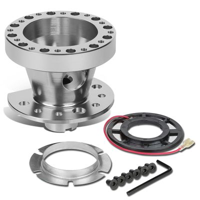Aluminum Steering Wheel 6-Hole Hub Adaptor Kit Silver - Civic / CRX / Integra