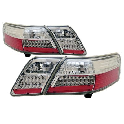 (ANZO) 07-09 Toyota Camry Euro Style LED Tail Lights - Chrome