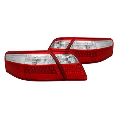 (ANZO) 07-09 Toyota Camry Euro Style LED Tail Lights - Red / Clear