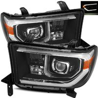 Alpha Rex Base Model 2007-2013 Toyota Tundra Projector Headlights - Black