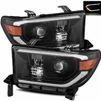 Alpha Rex Base Model 2007-2013 Toyota Tundra Projector Headlights - Midnight Black