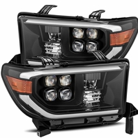Alpha Rex NOVA-Series 2007-2013 Toyota Tundra Projector Headlights - Jet Black
