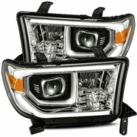 Alpha Rex PRO-Series 2007-2013 Toyota Tundra Projector Headlights - Chrome