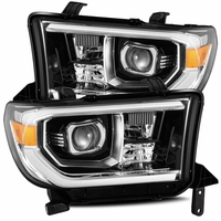 Alpha Rex PRO-Series 2007-2013 Toyota Tundra Projector Headlights - Jet Black