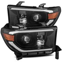 Alpha Rex PRO-Series 2007-2013 Toyota Tundra Projector Headlights - Midnight Black