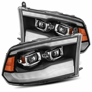 Alpha Rex PRO-Series Upgraded Version 2009-2018 Dodge Ram Sequential Projector Headlights - Black