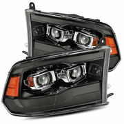 Alpha Rex PRO-Series Upgraded 2009-2018 Dodge Ram Sequential Projector Headlights - Jet Black
