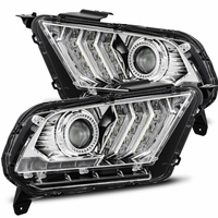 Alpha Rex PRO-Series 2010-2014 Ford Mustang Projector Headlights - Chrome