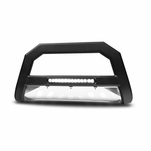 Armordillo 2000-2004 Nissan Frontier AR Series Bull Bar w/LED - Matte Black w/ Aluminum Skid Plate