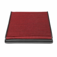 Audi A6 A7 C7 4G Reusable Replacement Engine High Flow Air Filter (Red)