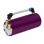 Billet Aluminum Racing Engine Oil Catch Reservoir Tank Can Hose Indicator Purple