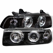 BMW E36 3-Series 92-98 4DR 1PC LED Projector Headlights - Black