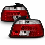 BMW E39 5-Series 97-00 LED Altezza Tail Lights - Red Clear