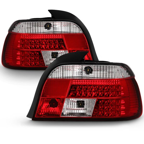 BMW E39 5-Series 97-00 LED Altezza Tail Lights - Red Clear ALT-YD-BE3997-LED-RC