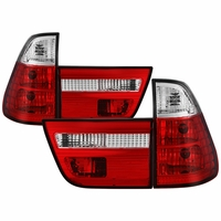 Spyder 2000-2005 BMW E53 X5 Euro Style Crystal Tail Lights - Red / Clear