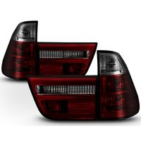 Spyder 2000-2005 BMW E53 X5 Euro Style Crystal Tail Lights - Red / Smoked