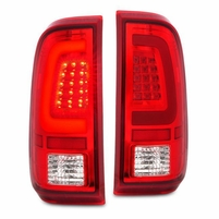CG� 08-16 Ford F250 F350 F450 SuperDuty C-Tube LED Tail Lights - Red Clear