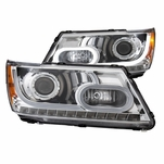 CG 09-15 Dodge Journey Fiber-Optic LED DRL Projector Headlights - Chrome