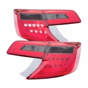 CG 12-14 Toyota Camry Fiber-Optic LED Performance Tail Lights - Red / Smoked