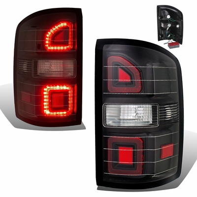 CG 14-17 GMC Sierra Fiber-Optic LED G2 Performance Tail Lights - Black