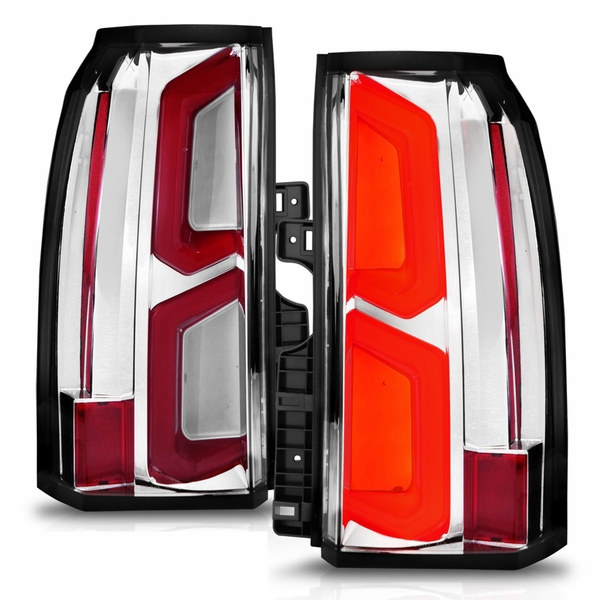 CG® 2015-2020 Chevy Suburban Tahoe Full LED C Bar ChromeTail Lights