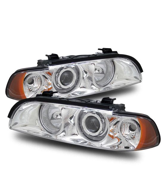 CG 97-00 BMW E39 5-Series / M5 Angel Eye Halo Projector Headlights - Chrome