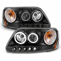 CG� 97-03 Ford F150 / Expedition / 97- 99 F250 LED DRL Halo Projector Headlights - Black