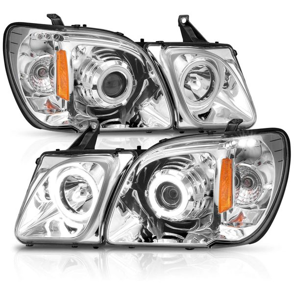 CG® 98-07 Lexus LX470 Ultra Bright LED Halos Projector Headlights - Chrome