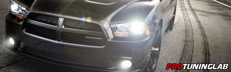Dodge Charger Angel Eye Halo Led Hid Projector Headlights By