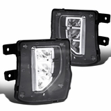 Chevy 16-18 Silverado 1500 Clear LED Fog Lights Driving Bumper Lamps w/ Switch
