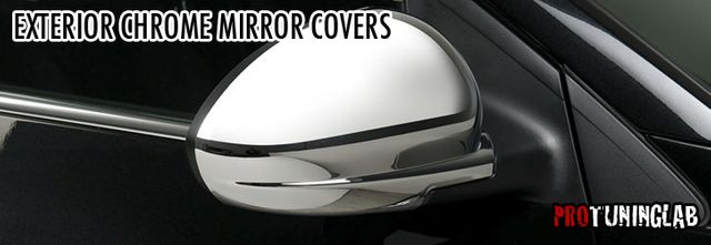 Aftermarket Peel & Stick Chrome Side Mirror Covers