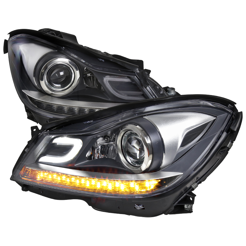 Depo 12 14 Benz W204 C Cl Projector Headlights Led