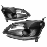 DNA 2001-2003 Honda Civic Replacement Crystal Headlights - Black