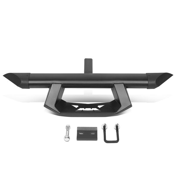 3.5-inch Black Powdercoated Tow Hitch Step Bar Guard w/Pin+Clip for 2-inch Receiver