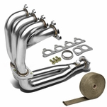 DNA 88-00 Honda Civic / Crx / Del Sol Sohc D-Series 4-2-1 Stainless Racing Manifold Header Exhaust + Heat Wrap