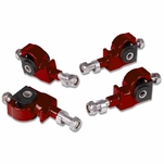 DNA Honda Accord / Civic / Integra / Prelude / CRX Adjustable Steel Front-Suspension Camber Adjuster Kit - Red