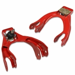 DNA Honda Civic Del Sol / Acura Integra Performance Stainless Steel Adjustable Front Upper Camber Kit - Red