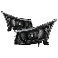 2011-2015 Chevy Cruze Black Housing Projector Style Headlights Driver & Passenger Side