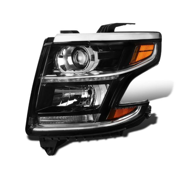 Driver Side For 2015-2020 Chevy Tahoe Suburban Projector Headlight Black