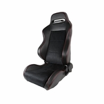 [Driver Side] Leather JDM Red Stitch PVC/Suede Recaro Style Racing Seat